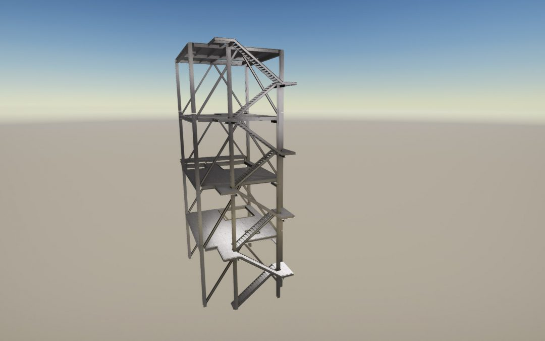 MDI400 industrial steel tower structure